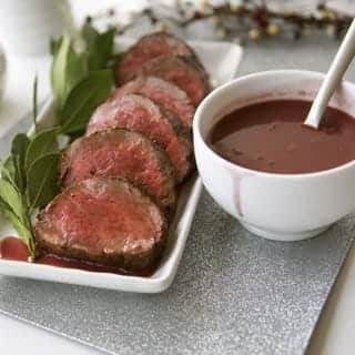 Beef Tenderloin with Red Wine Reduction Recipe