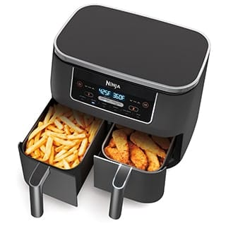 Ninja® Foodi® 6-in-1 8-qt. 2-Basket Air Fryer with DualZone™ Technology (DZ201)